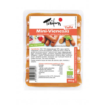 refrig salchichas mini vienesas de tofu bio 160 g