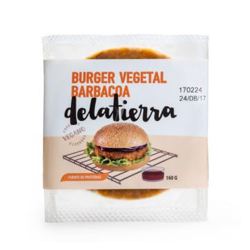 refrig hamburguesa barbacoa 160g vegana delatierra